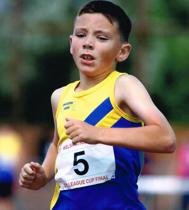 NUMBER ONE:  Iori Humphreys is ranked the number one 800 metre runner in Wales and the UK for his age group. (12131685)