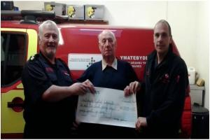 Crymych co-responders receive heart-warming birthday gift