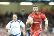 TRY TIME: Alex Cuthbert scores for Wales against Australia