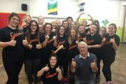 THUMBS UP: West End star Peter Karrie performed with Collaboration in Letterston last month.