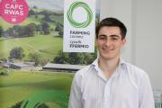 Beef and sheep farmer Carwyn James from Crymych, the winner of this year's Farming Connect Agri-Academy Business & Innovation challenge. (13654933)