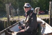 ON BOAT: Rhian ready to go on Lough Carragh, in the Ring of Kerry, earlier this year.