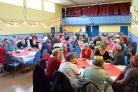 FESTIVE FUN: More than 100 senior citizens were treated to a three course Christmas lunch courtesy of St Davids City Council.  PICTURE: Western Telegraph (14626808)
