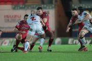 STILL ALIVE: Rob Evans and his Scarlets teammates still harbour hopes of a place in the last eight of the European Rugby Champions Cup. PICTURE: Huw Evans Photo Agency.