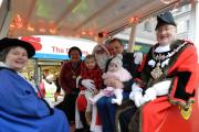 FATHER CHRISTMAS COMES TO TOWN: The man himself took time out of his busy schedule to visit Haverfordwest. PICTURE: Western Telegraph (14771351)