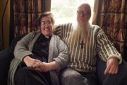 Rev Rhiannon Johnson and Fr Andrew Johnson. PICTURE: Milford Mercury