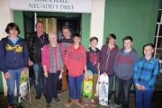 Youngsters from POINT are pictured with County Councillor Pat Davies ahead of the Town Council meeting.