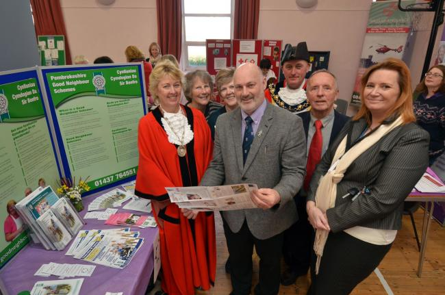 Pembrokeshire County Councillor Mike James (centre), Chairman of St Dogmaels Good Neighbours, is pictured at the launch, together with (from the left): Laura Benham (Newport Mayoress); Vivienne Bishop and Grace Hagen (Coordinating Committee); Cllr Andy Be