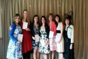 Members of Fishguard Ladies Circle with their re-charter certificates.