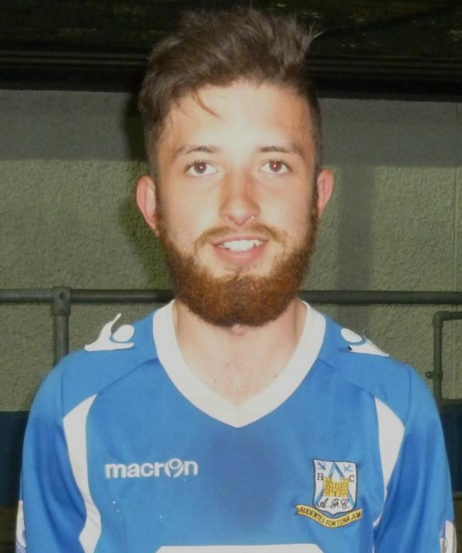 Jordan Thomas is making an impression playing at the heart of defence for Haverfordwest County Youth. (22289184)