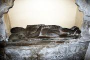 This male effigy in Llangwm's St Jerome's church is believed to be Sir David De La Roche PICTURE: (S)  (23643265)