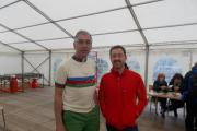ON TOUR: Peter Walker (left) with former Olympic Gold medallist Chris Boardman.