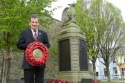 Pictured at Haverfordwest's Cenotaph is Ken Humphreys of the Haverfordwest Branch of the Royal British Legion. PICTURE: Western Telegraph  (24247581)