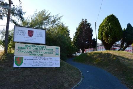 3 1m mobile school village for Haverfordwest High VC pupils