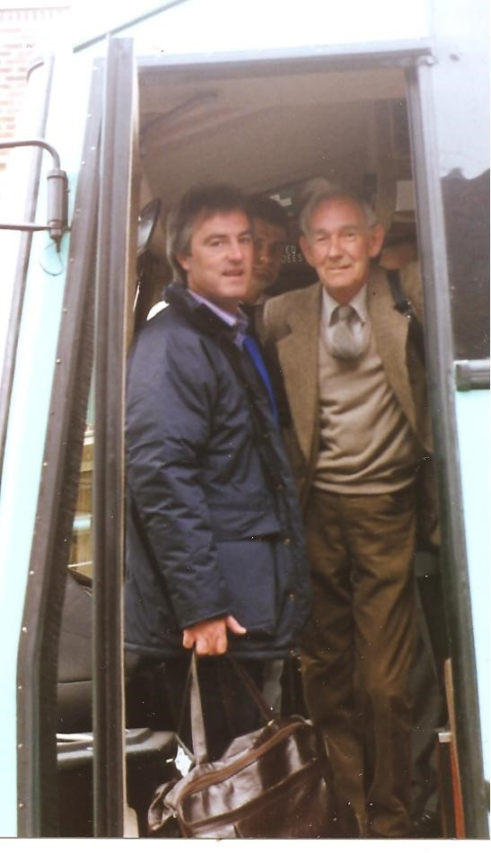 Sid and his son-in-law (Peter Smith) on their way to Norway, 50 years after the events. PIC: S (25810637)
