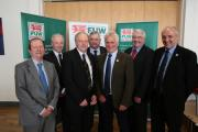 New team at the helm – Brian Walters, Richard Vaughan, Brian Thomas, Eifion Huws, Glyn Roberts, Dewi Owen and Brian Bowen