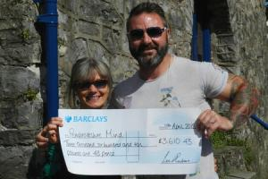 "Cyclist's ""amazing"" donation to MIND"