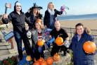 Getting into the Hallowe'en spirit for Saundersfoot's Big Bang weekend are Chamber for Tourism chairman Phil Odley (right) and members Emma MacMillan, Belinda Brett, Dilys Hackett, Paul Hancock and Michael Slade.PICTURE: Gareth Davies Photography (43880