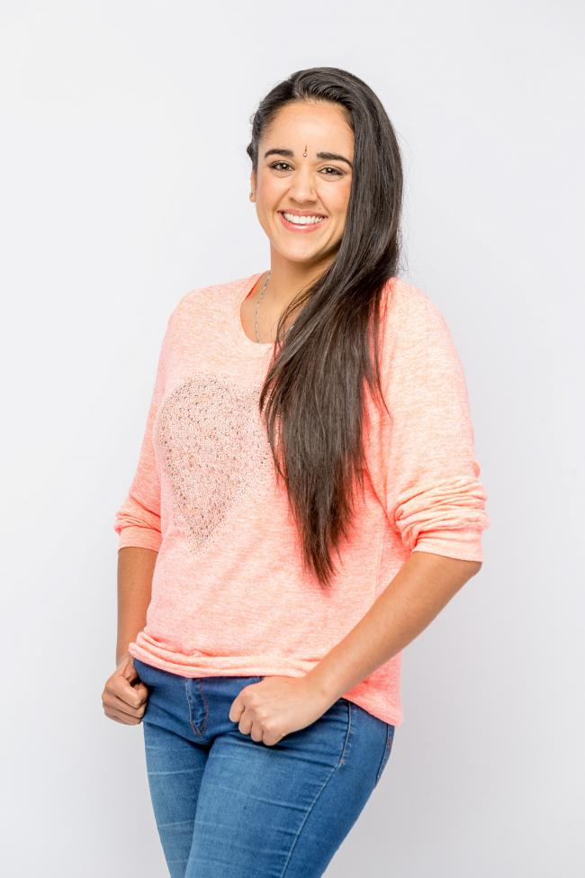 Pembrokeshire's Sita Thomas is the newest presenter on Channel 5's Milkshake. PICTURE: Channel 5.
