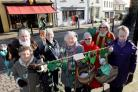 Narberth WI members get ready to take their hand-crafted green hearts around the town to show their love for the climate change action campaign. PICTURE: Gareth Davies Photography  (55867449)