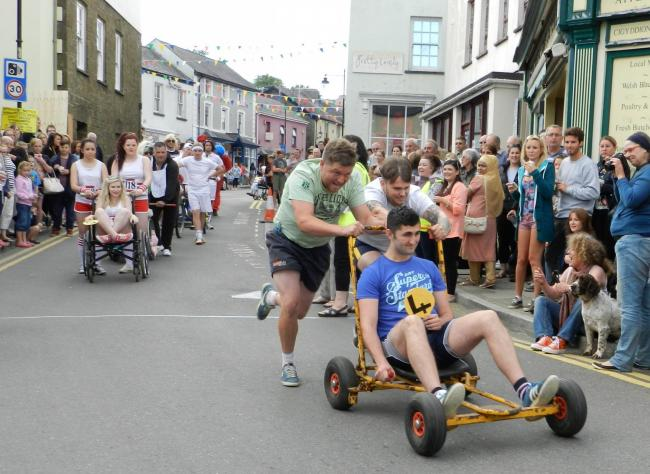 Narberth Pram Push 2015. Narberth has been voted one of the best places to live in Wales. PICTURES: Holly Robinson.