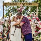 Western Telegraph: Couple tie the knot at Glastonbury Festival