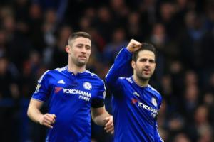 Cesc Fabregas sent off in Chelsea's victory over Liverpool in Los Angeles