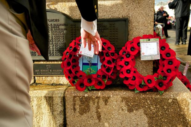 Western Telegraph: Remembrance services will take place in Milford Haven and Neyland this weekend. PICTURE: Lisa Soar.