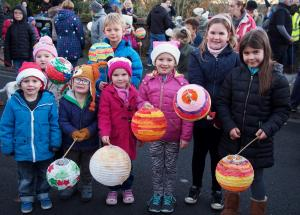 Western Telegraph: Families came out into the cold for Milford Haven's Christmas lights switch-on.