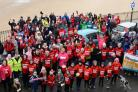 Wales' first-ever Winter Walk took place in Tenby on Saturday in aid of the blood cancer charity Bloodwise. PICTURE: Gareth Davies Photography.