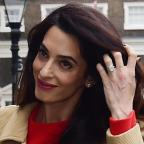Western Telegraph: Amal Clooney stunned in a gorgeous red dress as she gave a speech in London