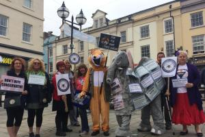 'Standing up to austerity' in Haverfordwest