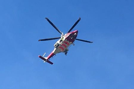 Rescue helicopter 187 was scrambled to a girl stuck on cliffs at Broad Haven this afternoon (Thursday).