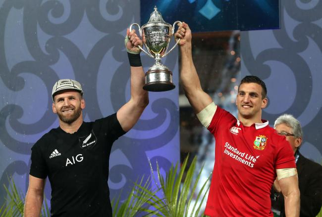 HONOURS EVEN: The Lions, captained by Sam Warburton, right, drew the series with New Zealand in 2017