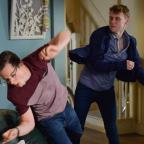 Western Telegraph: EastEnders' Jay Brown and Ben Mitchell to lock fists in explosive fight (Kieron McCarron/BBC)