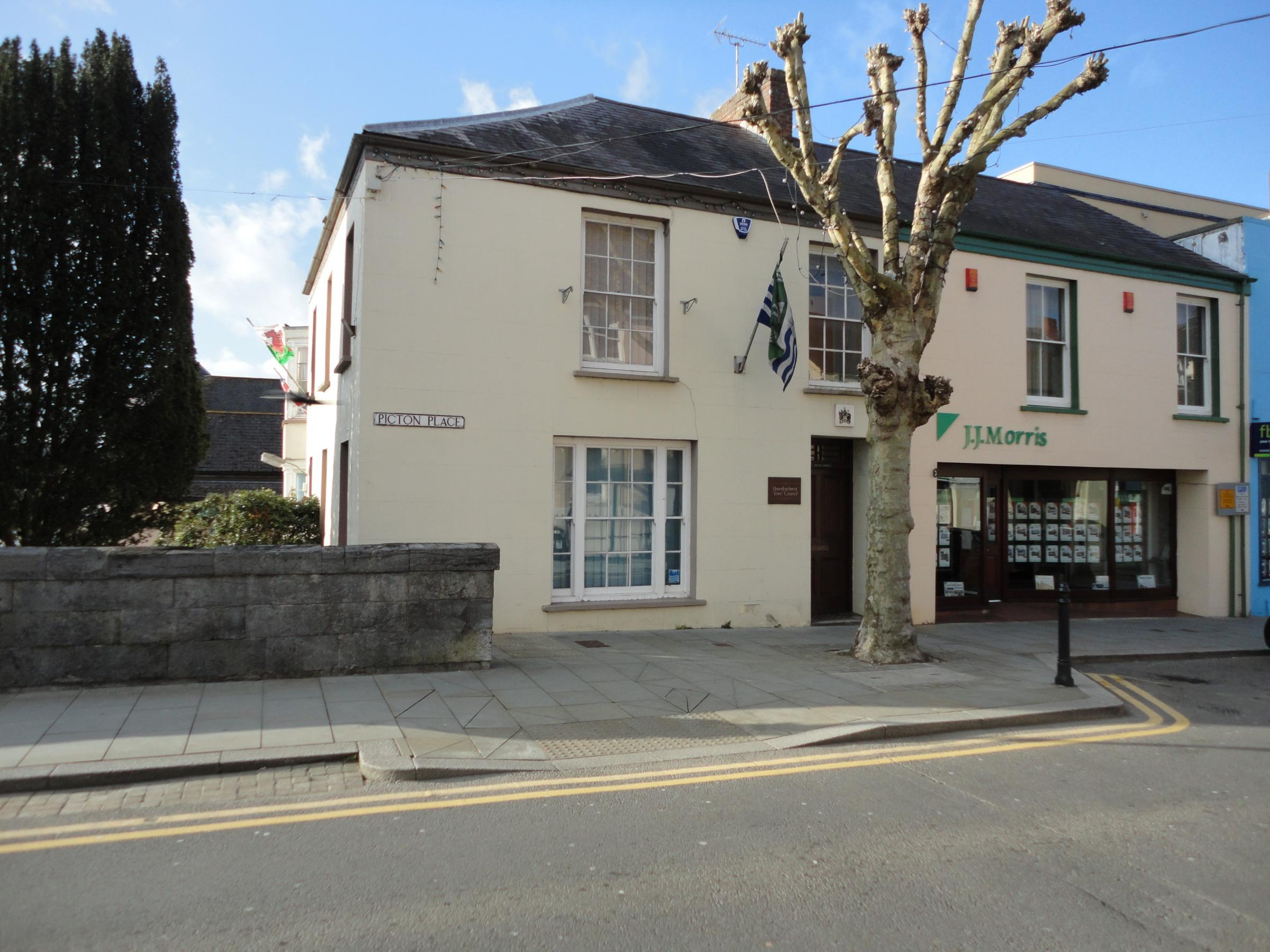 Picton House, offices of Haverfordwest Town Council.