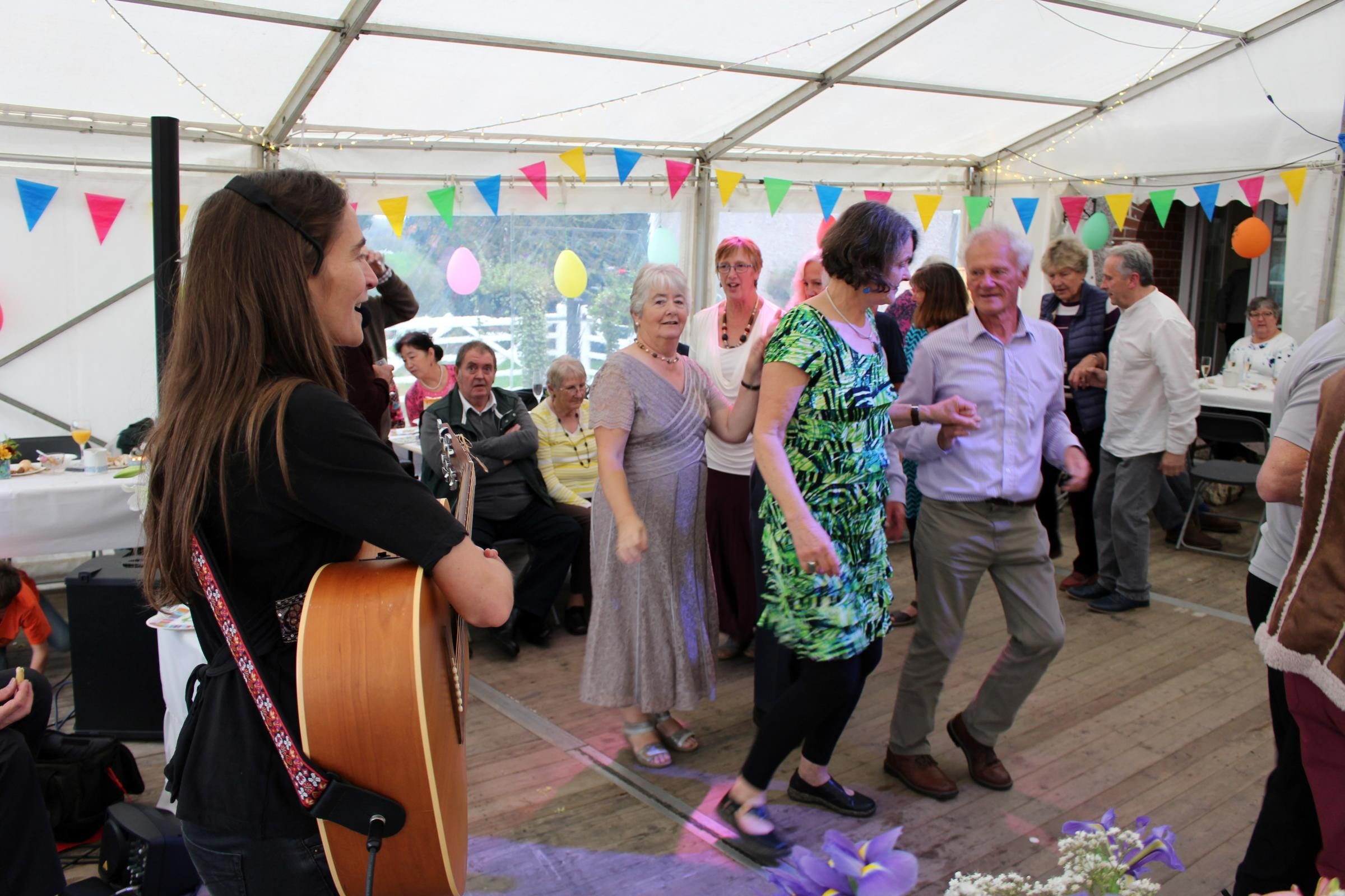 Celebrations at Geoff Evans' 80th birthday. PICTURE: Nick Pudsey, Pembrokeshire Video Productions.