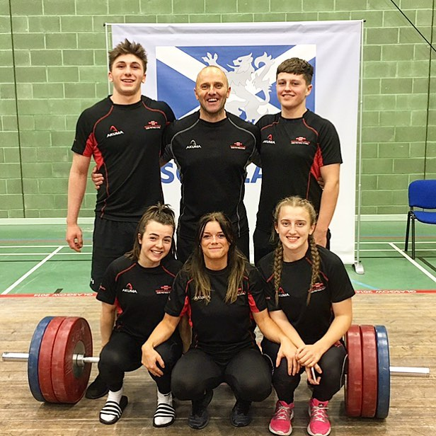 The SAW lifters with Simon Roach.