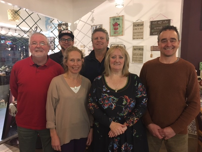 The Haverfoodfest committee: (L-R) Frank Short, Toby Ellis, Lise Matthews, Gary Lewis, Sally Williams, and Shaun Stewart.