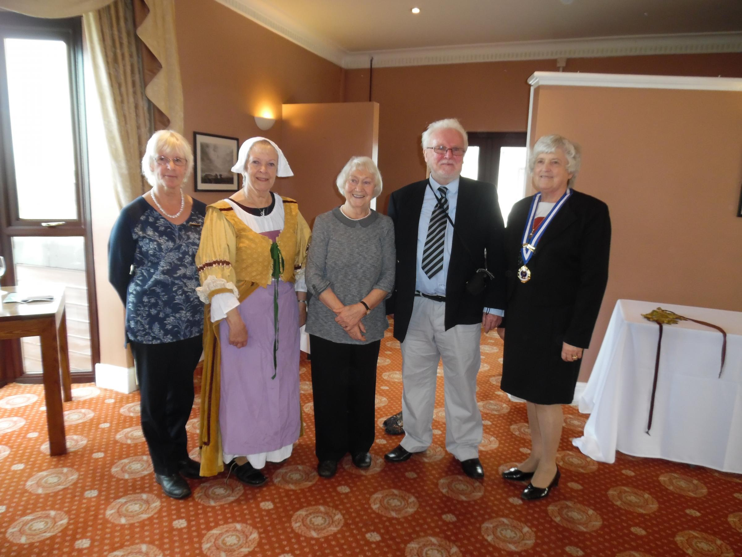Pictured, from left, are: Yvonne Hurton, Rita Evans, Ann Dureau, Terry John and Christine Vater.