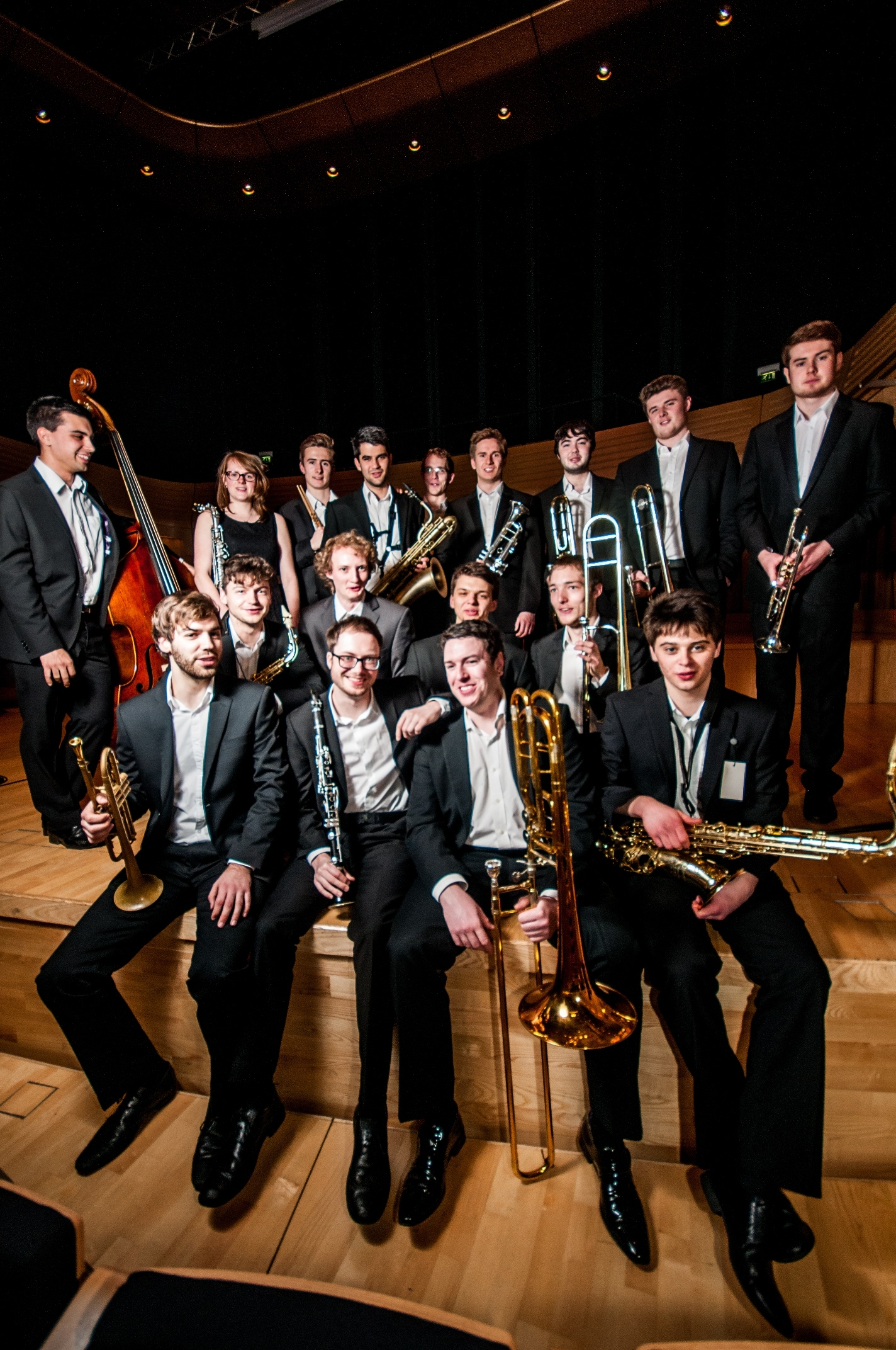 The Big Band of the Royal Welsh College of Music and Drama.