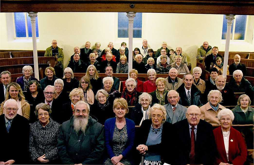 A final service of dissolution for Fishguard's Pentowr Chapel was attended by the current congregation and many former members who had travelled home for the occasion. PICTURE: Johnny Morris