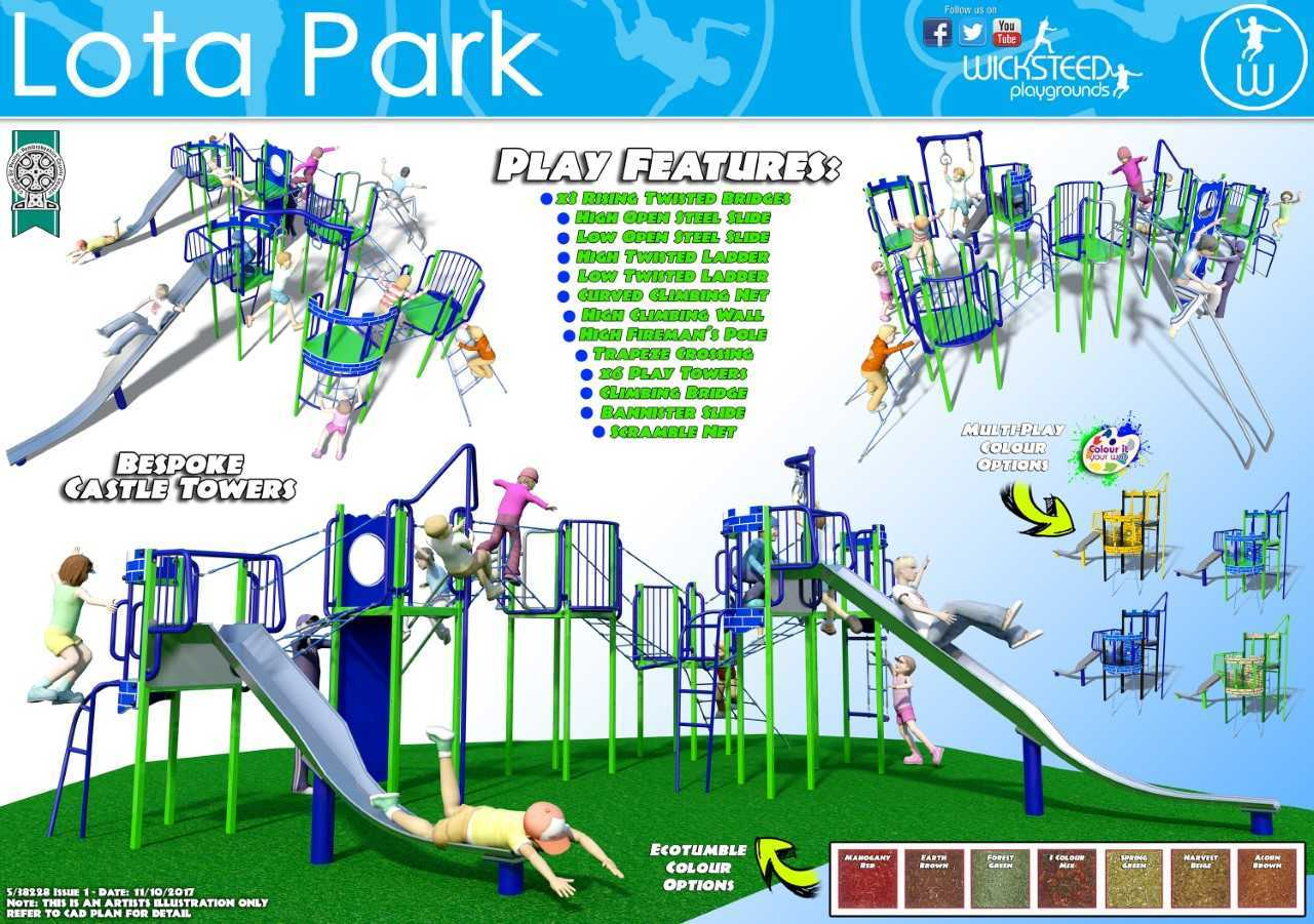 The £30,000 new play equipment in Lota Park is due to be installed by Pembrokeshire County Council in March next year.