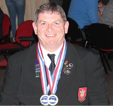Haydn Cole with his Silver Pin.