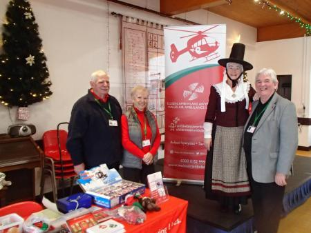 Wales Air Ambulance received a £160 donation, raised at the December meeting of Pembroke Soup.