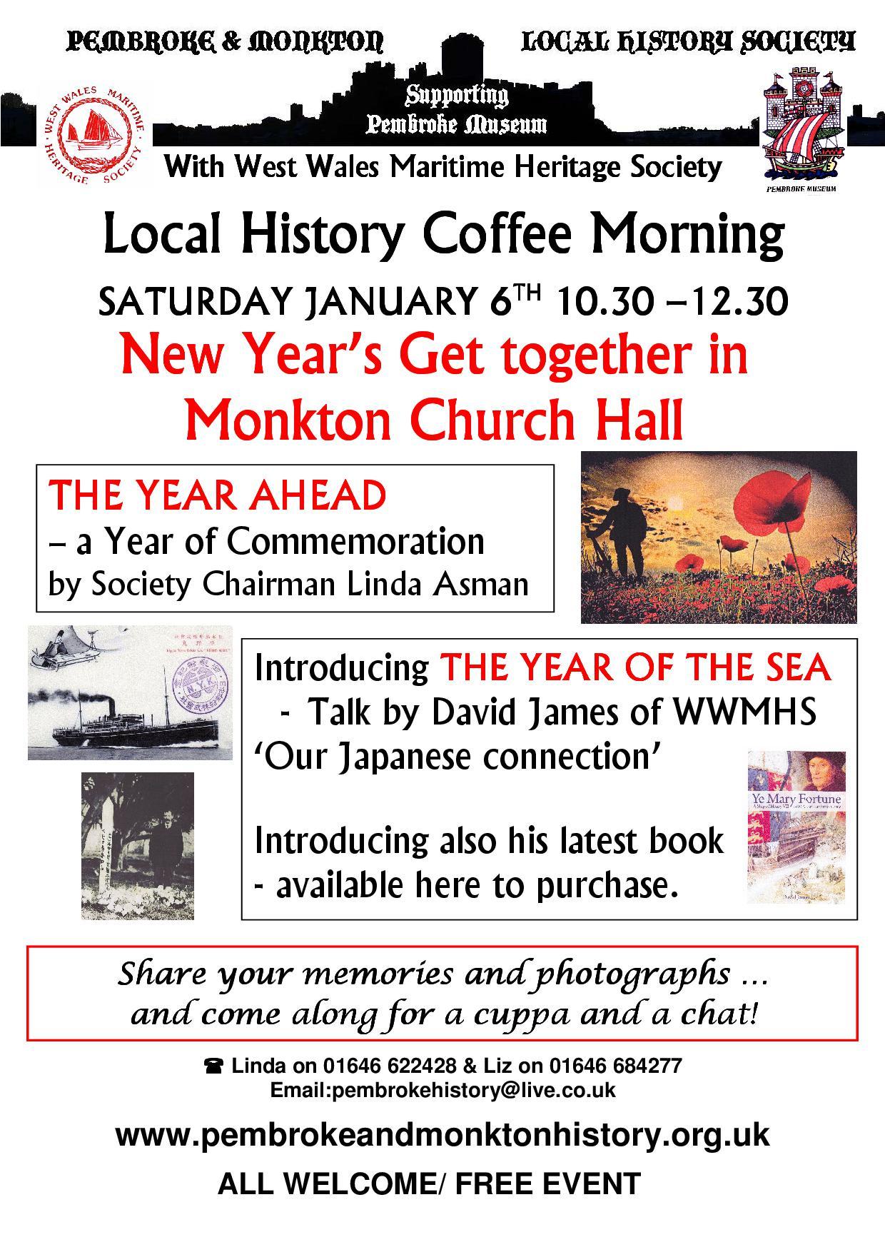 2018: a year of commemoration for Pembroke & Monkton History Society