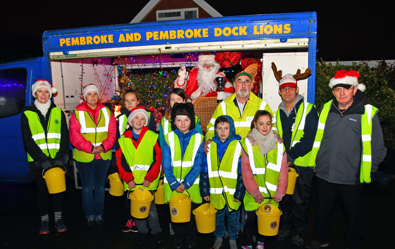 Pembroke and Pembroke Dock Lions' annual Santa sleigh run was a great success. PICTURE: Martin Cavaney.