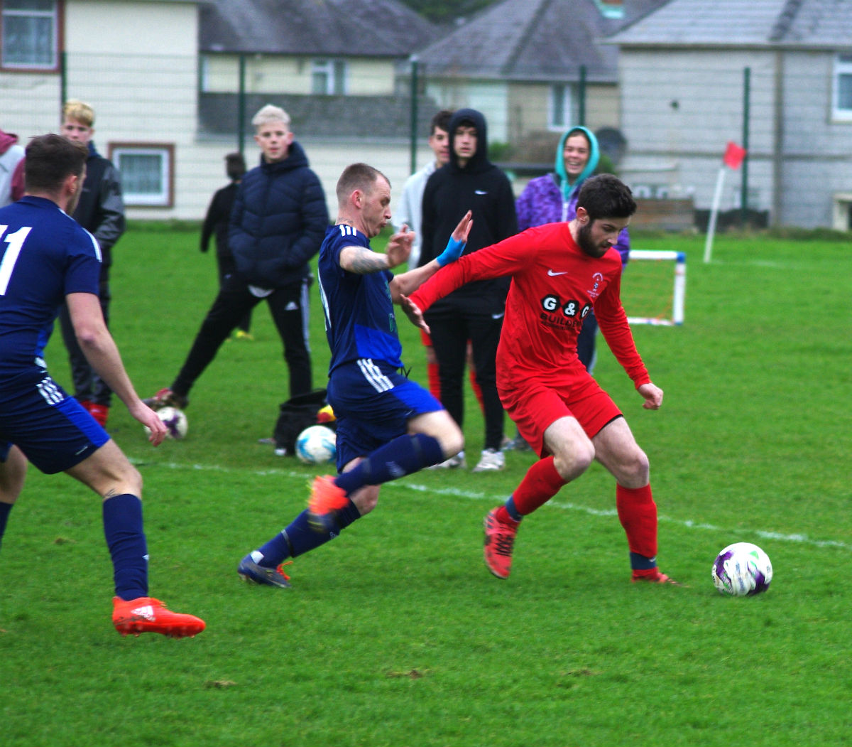 It was a vital win for Lamphey at Pennar. PICTURE: Western Telegraph.