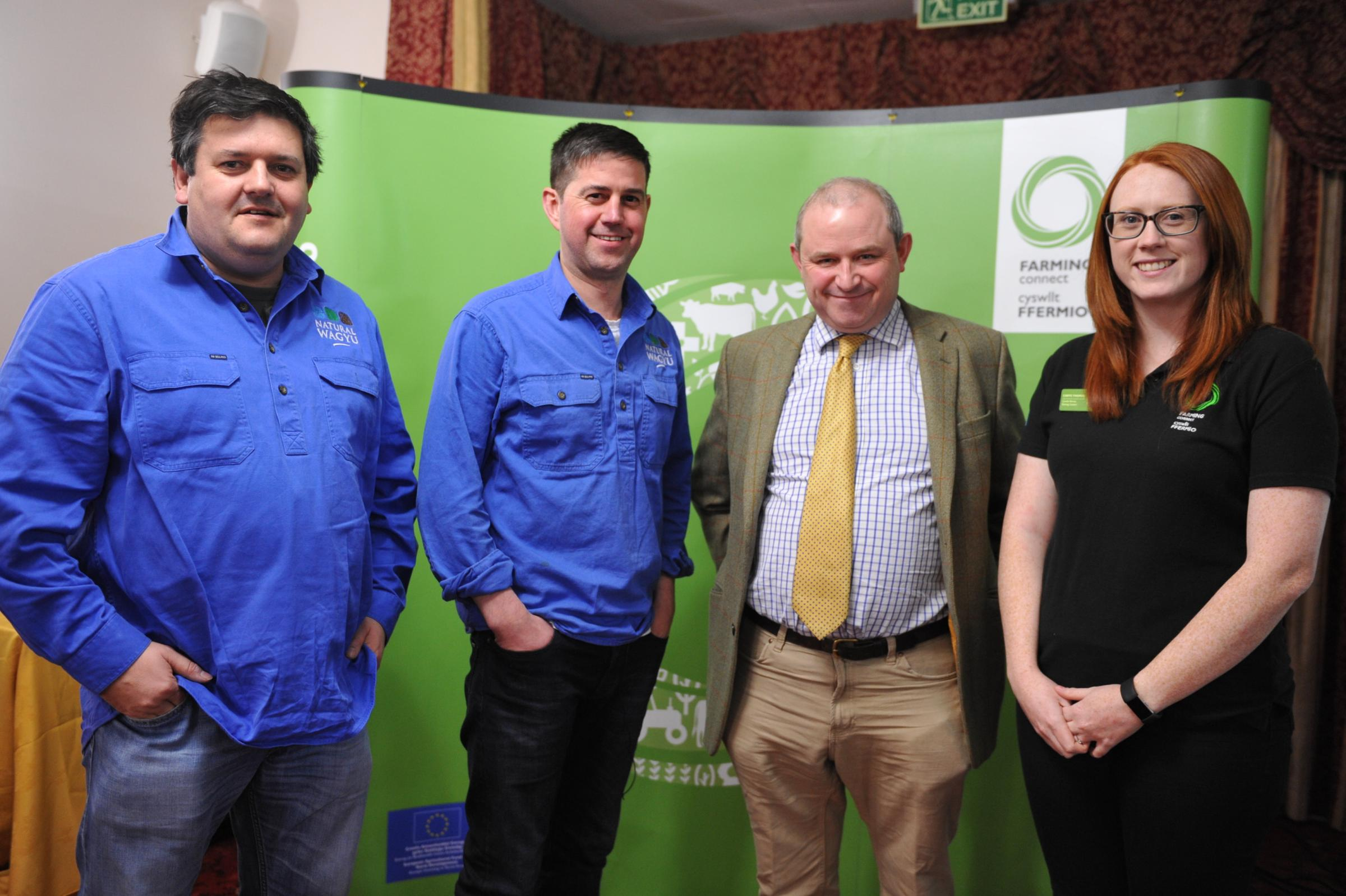 Will Prichard, Rob Cumine, Justin Scale and Carys Thomas at the diversification event