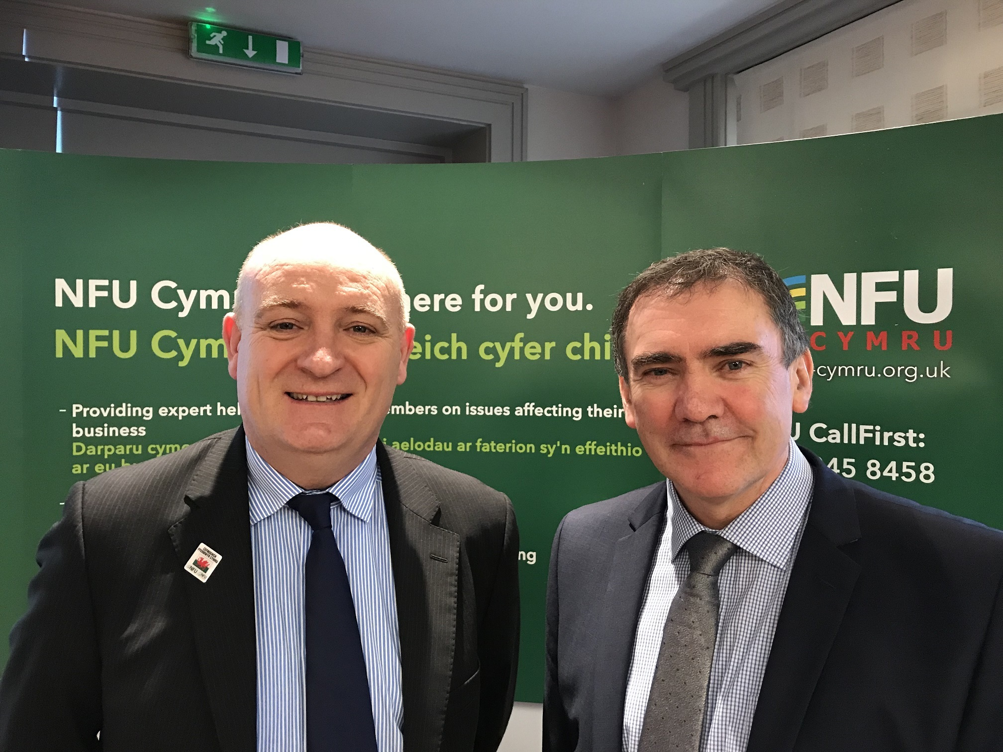 New NFU presdient John Davies with his deputy Aled Jones